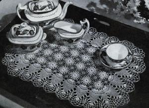 Pineapple Tray Mat ~ Free Vintage Crochet
