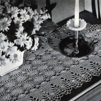 Pineapple Runner #7855 ~ Free Vintage Crochet