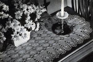Pineapple Runner #7855 ~ Free Vintage Crochet