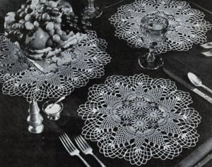 Pineapple Round Luncheon Set #7857 ~ Free Vintage Crochet