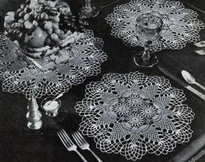 Pineapple Round Luncheon Set #7857 ~ Free Vintage Crochet