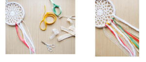 How to Make a Crochet Dreamcatcher ~ Craftbits.com