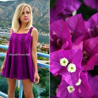 Crochet Purple Dress ~ Jane Green – Beautiful Crochet Stuff