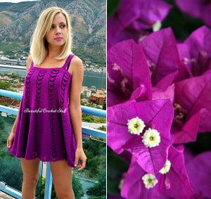 Crochet Purple Dress ~ Jane Green - Beautiful Crochet Stuff