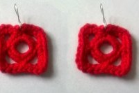 Squircle Earrings ~ Candace - Crochet Spot