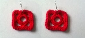 Squircle Earrings ~ Candace - Crochet Spot