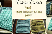 Diana Pot Holder/Hot Pad ~ Divine Debris