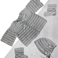 Crochet Baby Set #726 ~ Free Vintage Crochet