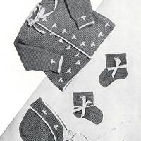 Baby Set #727 ~ Free Vintage Crochet