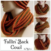 Fallin' Back Cowl ~ Rhelena - CrochetN'Crafts