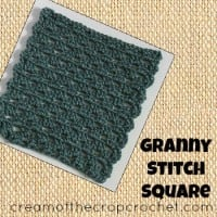 Granny Stitch Square ~ Cream Of The Crop Crochet