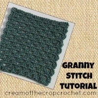 Granny Stitch Tutorial by Cream Of The Crop Crochet for CrochetN'Crafts