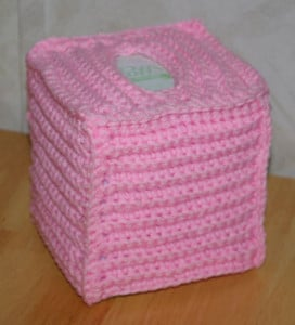 Ribbed Boutique Tissue Cover ~ FREE Crochet Pattern