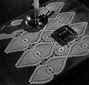 Night Table Doily #7767-A ~ Free Vintage Crochet