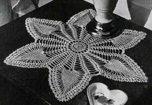 Six Pointed Doily #7769 ~ Free Vintage Crochet