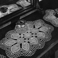 Vanity Set #7770-B ~ Free Vintage Crochet