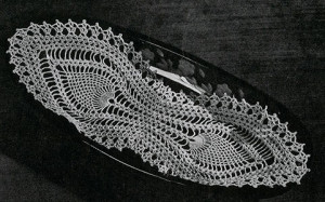 Bread Tray Doily #7772 ~ Free Vintage Crochet