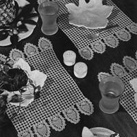 Rectangular Luncheon Set ~ Free Vintage Crochet
