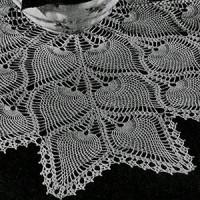 Square Tablecloth #7776-B ~ Free Vintage Crochet