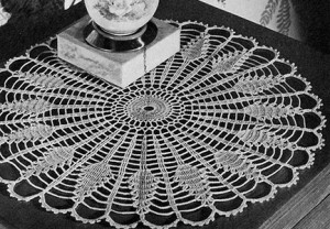Sundial Doily ~ Free Vintage Crochet