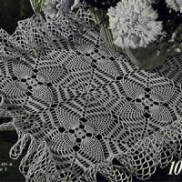 Pineapple Web Doily ~ Free Vintage Crochet