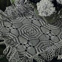 Pineapple Web Doily ~ Free Vintage Crochet
