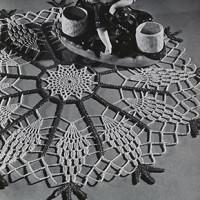 Pineapple Wheel Doily ~ Free Vintage Crochet