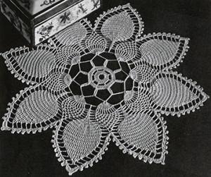 Pineapple Petals Doily ~ Free Vintage Crochet