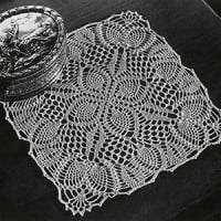 Pineapple Posy Doily ~ Free Vintage Crochet