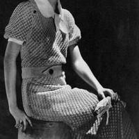 Cotton Lace Dress ~ Free Vintage Crochet