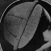 Rolled Brim Hat #20 ~ Free Vintage Crochet