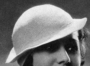 Hat with Tilted Brim #21 ~ Free Vintage Crochet