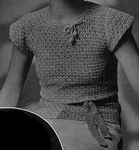 Epaulette Shoulder Blouse #4 ~ Free Vintage Crochet