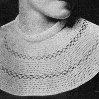 Double Crochet and Knot Stitch Collar ~ Free Vintage Crochet