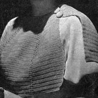 Crocheted Cape ~ Free Vintage Crochet