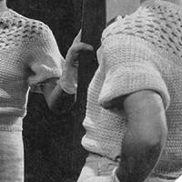 Lace Yoke Blouse ~ Free Vintage Crochet