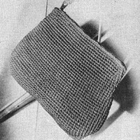 Cotton Crocheted Zipper Purse ~ Free Vintage Crochet