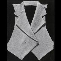 Tailored Vest ~ Free Vintage Crochet