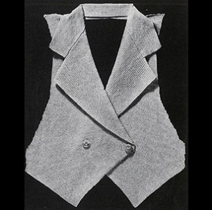Tailored Vest ~ Free Vintage Crochet