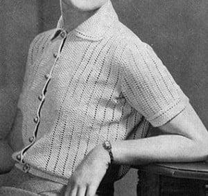 Tailored Blouse ~ Free Vintage Crochet