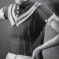 Parisian Striped Blouse ~ Free Vintage Crochet