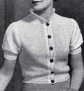 Barette Stitch Blouse ~ Free Vintage Crochet