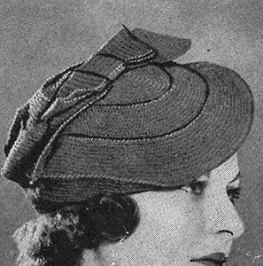 Tilted Beret ~ Free Vintage Crochet
