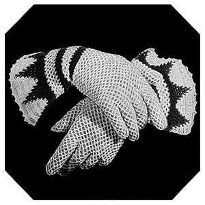 Glove with Triangular Flare Cuff ~ Free Vintage Crochet