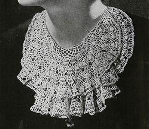 Lace Jabot ~ Free Vintage Crochet