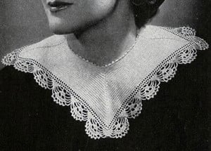 Square Ribbed Collar ~ Free Vintage Crochet