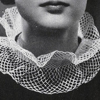 Lace Ruff ~ Free Vintage Crochet