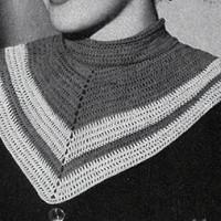 V Collar ~ Free Vintage Crochet