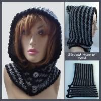Striped Hooded Cowl ~ Rhelena – CrochetN'Crafts