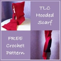 TLC Hooded Scarf ~ Rhelena - CrochetN'Crafts